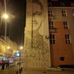 Mural poświęcony Marianowi Rejewskiemu w Bydgoszczy