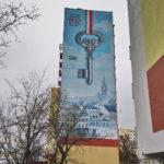 Mural z kluczem do miasta Bydgoszcz